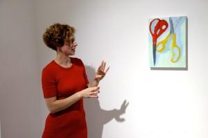Sara Faux explains her artworkCopyrights: Christophe Catala