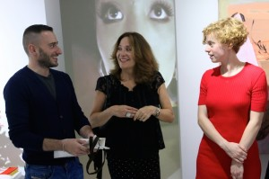 Enrico, owner of gallery with nava and artist Sarah FauxCopyrights: Christophe Catala